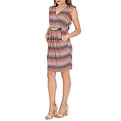 Mela - Multicoloured aztec belted dress