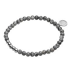 Dyrberg Kern - Silver zenith marble stone bracelet
