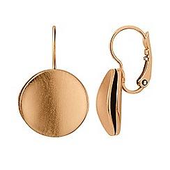 Dyrberg Kern - Gold gaia matt rose gold earrings