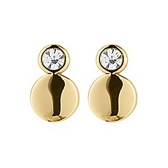 Dyrberg Kern - Gold pace sg crystal earrings