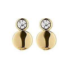 Dyrberg Kern - Gold pace sg crystal earrings