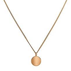 Dyrberg Kern - Gold atoma matt rose gold necklace