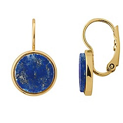 Dyrberg Kern - Blue corkin french hook earings