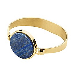 Dyrberg Kern - Gold ronin hinged bangle