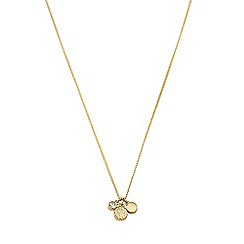 Dyrberg Kern - Gold denny necklace three pendant