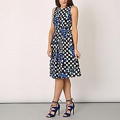Izabel London - Black rose patterned dress
