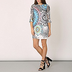 Izabel London - Blue optical print dress