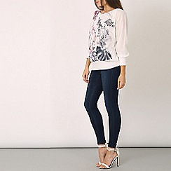 Izabel London - White scattered butterfly top