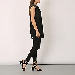 Izabel London - Black crotchet lace top