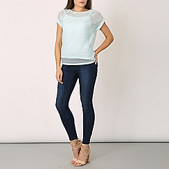Izabel London - Light blue transparent stiped tee