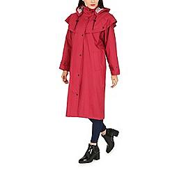 David Barry - Red cord storm coat
