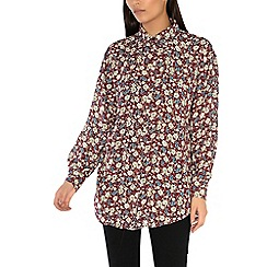Alice & You - Maroon oversized printed shirt