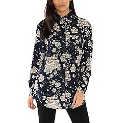 Alice & You - Navy oversized printed shirt