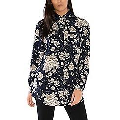 Alice & You - Navy oversized printed shirt