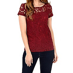 Alice & You - Maroon lace t-shirt
