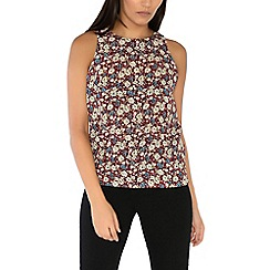 Alice & You - Maroon sleeveless printed top