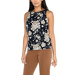 Alice & You - Navy sleeveless printed top