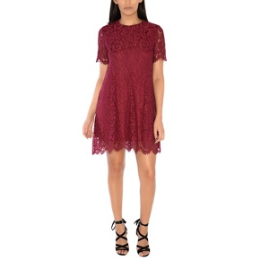 Alice & You Maroon lace shift dress