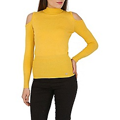 Jane Norman - Yellow cold shoulder jumper