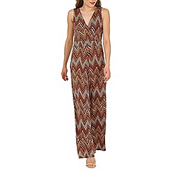 Mela - Multicoloured chevron print jumpsuit