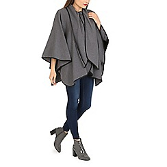 David Barry - Dark grey faux cashmere cape