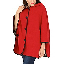 David Barry - Red button up cape