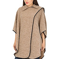 David Barry - Light brown braided edge cape
