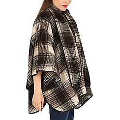 David Barry - Brown wool mix cape