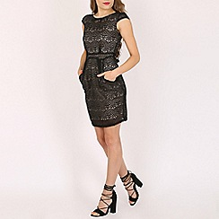 Voulez Vous - Multicoloured lace tie back pleat dress