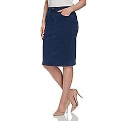 Roman Originals - Navy denim pencil skirt