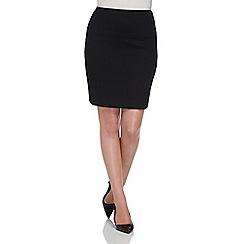 Roman Originals - Black textured short skirt