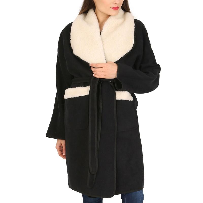 David Barry Black Faux Shearling Jacket, Womens, Size: Large