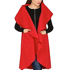 David Barry - Red sleeve wrap over jacket