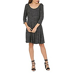 Voulez Vous - Dark grey pleated knitted dress