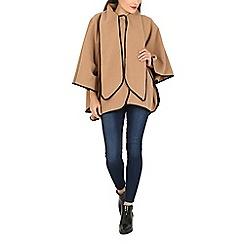 David Barry - Camel faux cashmere cape