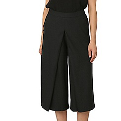 Izabel London - Black wide leg pleat culottes