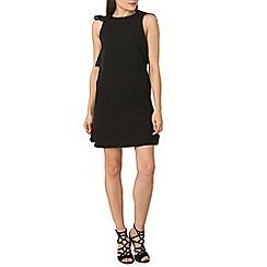 Izabel London - Black frill back detail shift dress