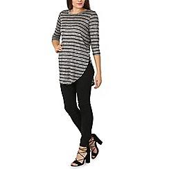 Izabel London - Black stripe detailed top