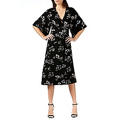 Sugarhill Boutique - Black neve boho wrap midi dress
