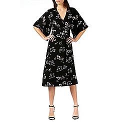 Sugarhill Boutique - Black neve boho wrap midi dress