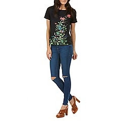 Sugarhill Boutique - Black jocelyn garden floral top