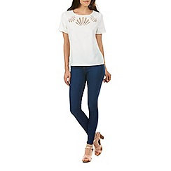 Sugarhill Boutique - White giny cutwork tee