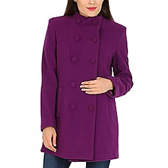 David Barry - Cerise funnel neck jacket