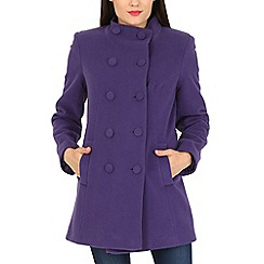 David Barry - Purple funnel neck jacket