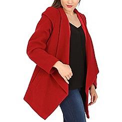 David Barry - Red waterfall drape jacket