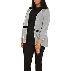 Samya - Black cardigan zip coat