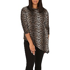 Samya - Brown leopard print top