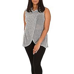 Samya - Black sleeveless wrap style top