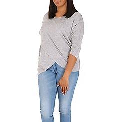 Samya - Light grey layered hem top
