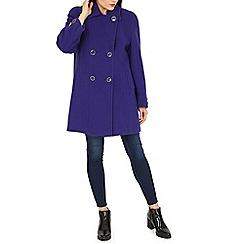 David Barry - Purple double button duffle coat